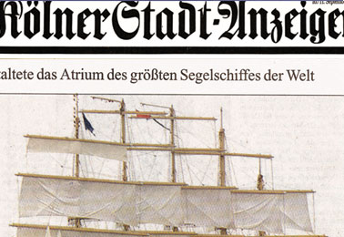 Koelner Stadtanzeiger – Transforming the Royal Clipper into a piece of art