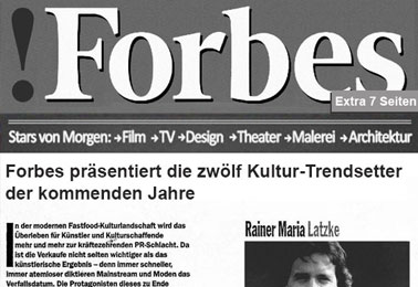 Forbes Magazine – 12 cultural trendsetters with input on the decade