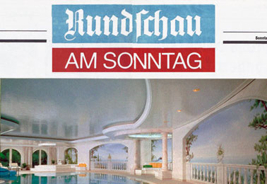 Rundschau am Sonntag, Germany – Castles in the air and painted Illusions