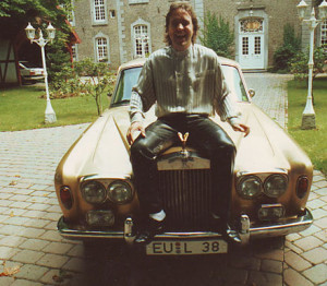 Latzke with his first Rolls Royce