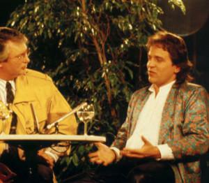 Latzke in an interview in a German talk show in 1988