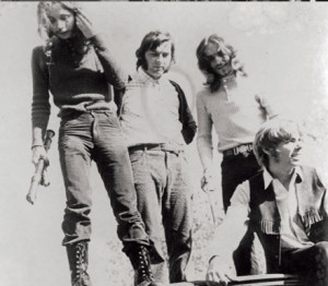 As a high school student with his band (2nd from right), 1967