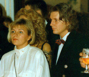 The young Frank Schätzing who later became famous as a bestselling author (The Swarm), at a party at the castle