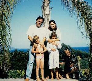Latzke with his family in Malibu, 1991