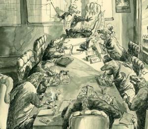 Illustration of the black series,