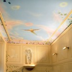 Ceiling painting in the staircase