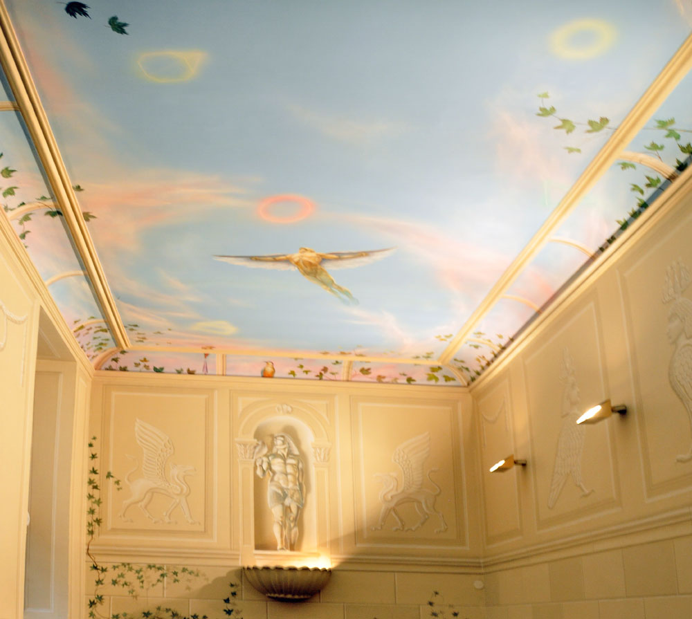 Rainer maria latzke ceiling paintings for Painting on ceiling