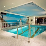 For this private pool Rainer Maria Latzke created a climber ornament which is constantly changing by turning the marble slabs in different orientation.