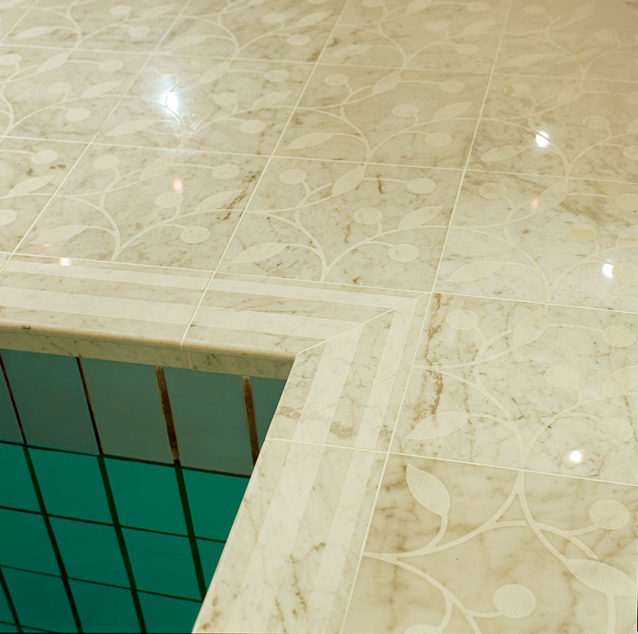 Rainer maria latzke anti slip marble flooring all our decors are customized and fit to the individual shape of the floor dailygadgetfo Images