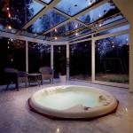 Especially in the spa area a non-slip floor is appreciated
