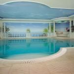 For the 5-star Hotel Schloss Duernstein in the Wachau, Austria, Latzke created a wave-like design
